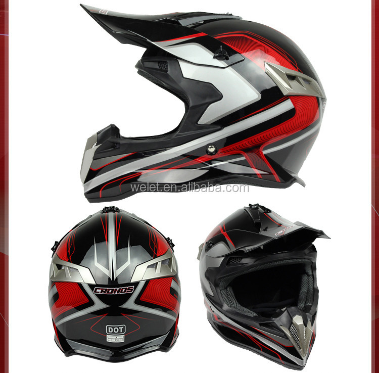 motorcycle cross helmet with removable brim/cap