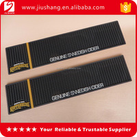 Factory bottom price 6p free custom pvc bar mat with 3D logo