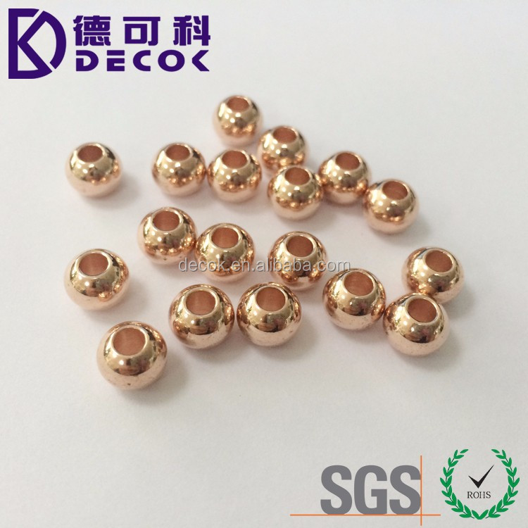 Copper Sphere Threaded Hollow Copper Ball with Through Hole