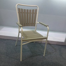 Modern cheap outdoor plastic wood stacking garden chair