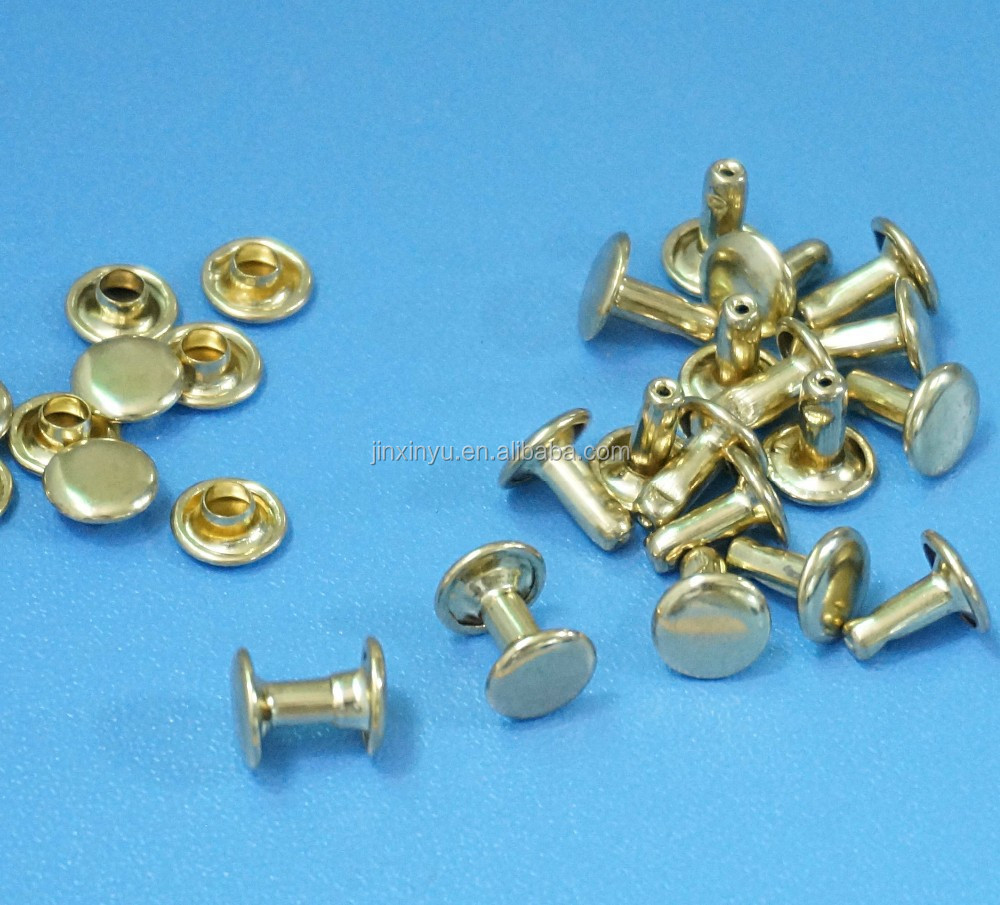 high quality metal brass rivets for leather