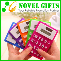 Custom Promotion Mini Foldable Silicon Solar Calculator with Magnet