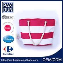 Red streakcanvas light weight Best Sell Newest Handbag Systyle