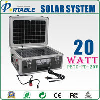 20W folding free energy sun power patented product home solar equipment with screw fixed and easy to open with 150W inverter