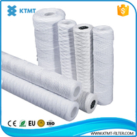 10 inch 5 micron cotton spiral string wound alkaline filter cartridge with pp/stainless steel core