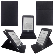 China Wholesale Leather Flip Cover Solid Shockproof Standable Tablet Case For Kindle Touch 6