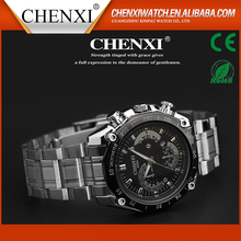 Best Quality Day/Date Water Resistant Stainless Steel Back Quartz Movement Watch with CE/RoHS