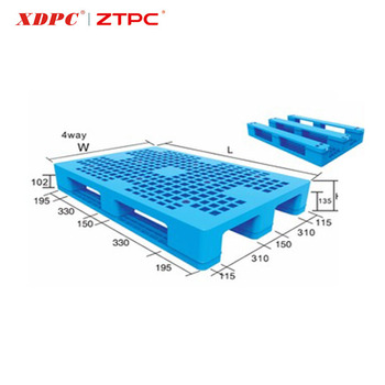 Newest design grade useful durable environment hdpp welding single transportation plastic pallet