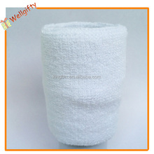 High quality 2 layers solid color cotton terry cloth towelling sweatbands