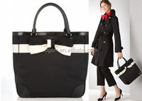 HOT and New design lady handbag , pu bag , shoulder bag with butterfly bow on front