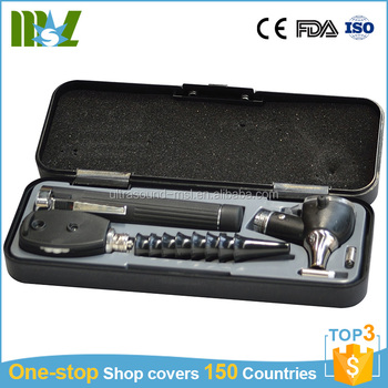 Mini Professional Medical Otoscope and ophthalmoscope set for inner ear membrane