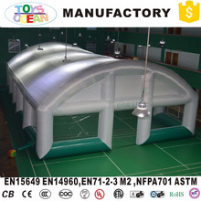 White and Green Color Dome Giant Advertising Inflatable Marquee Cube Igloo Tent