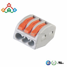 Wire to wire 2 3 4 5 pin compact splicing Wago connector