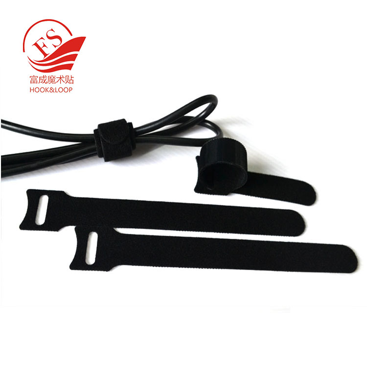 Back to Back hook and loop  Cable Tie Strap Wrap / Thin Hook And Loop Reusable Cable Tie Nylon Soft Hook loop