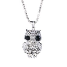 Owl alloy sweater long necklace fashionable female best match necklace