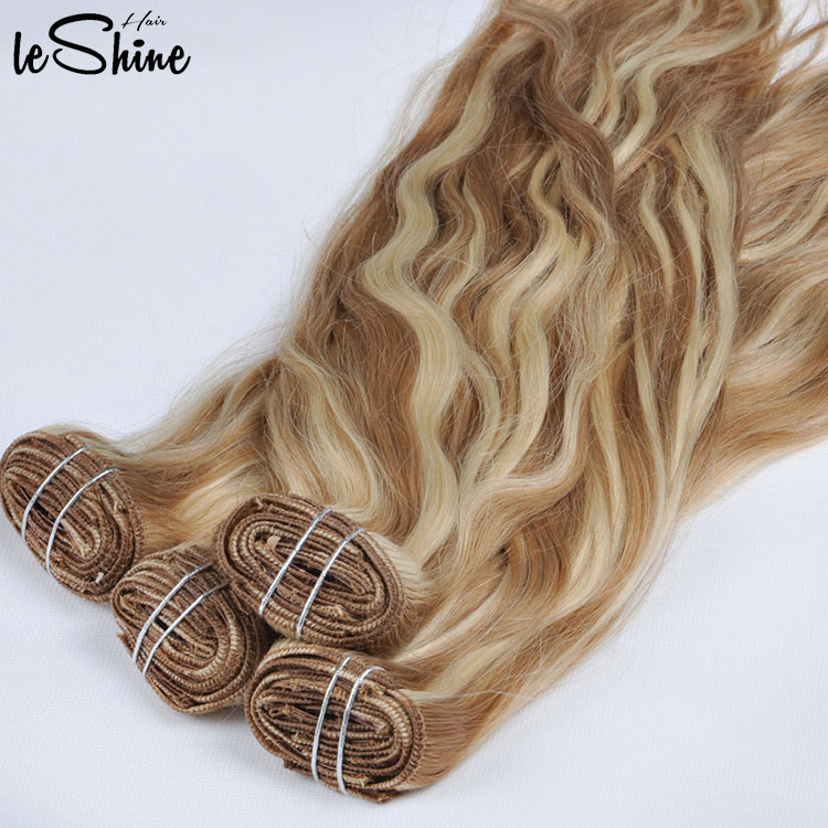 High Quality Easy Clips Hair Extensions White Women Indian