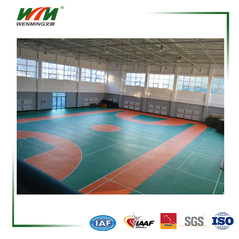 Colorful Indoor Tennis Acrylic Floor Covering