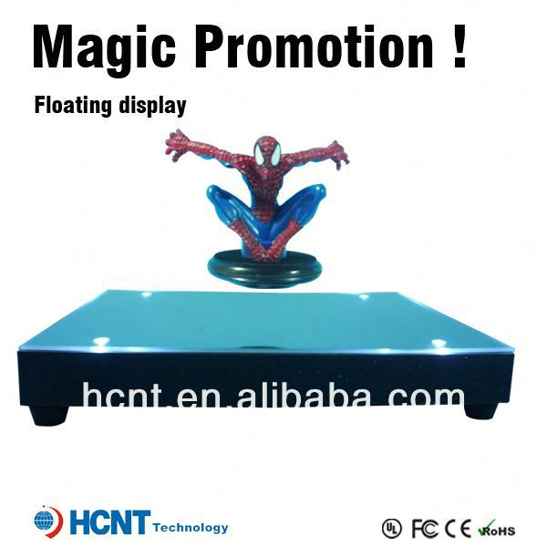 New invention 2013 !! Magnetic Floating pop display ,wall mounted glass display cases