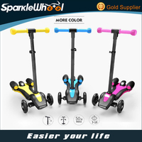 Newest Kids Scooter Mini 3 Wheel Colorful Fog Kick Scooter With Sprayer