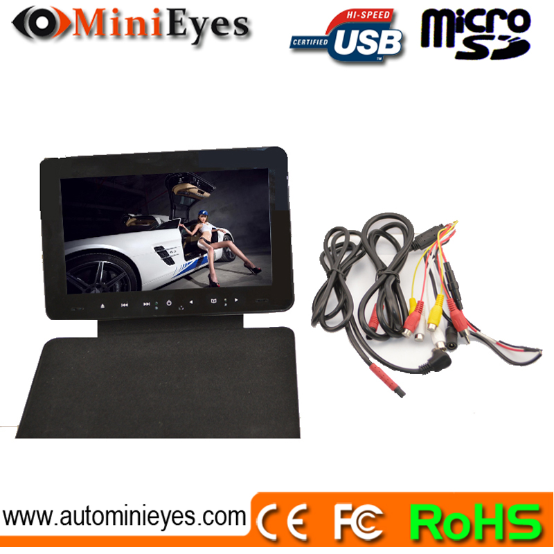 9 inch central armrest TFT LCD monitor with DVD player