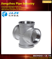 stainless steel cross pipe fitting