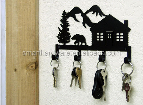 Decorative Metal Key holder Laser cut metal key rack