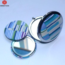 2017 free exsting sample tin custom pocket mirror,one way mirror glass with your designs
