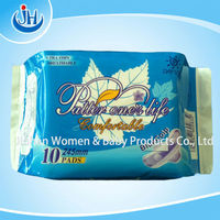 240mm Lady sanitary pads with cotton/mesh cover OEM manufacturer/fresh super dry sanitary napkins