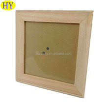 Cheap Natural Unfinished Handmade Wood Photo Frame Wholesale