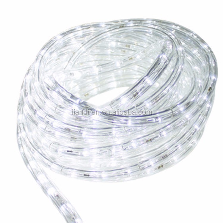 COOL white 220V 2 wire 13mm led flexible rope light 36 LEDs/M clear tube LED rope light