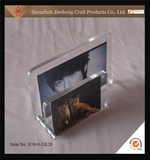 2016 hot sale fashion design wholesale portable double sided photo frame