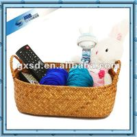 100% Handmade storage use Straw square woven basket