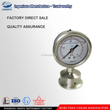 High quality 2.5 inch all stainless steel oil filled sanitary diaphragm manometer