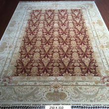 Luxury 9*12 Feet Pure Silk Chinese Persian Design Hand knotted Rugs Custom Hand-made Carpets