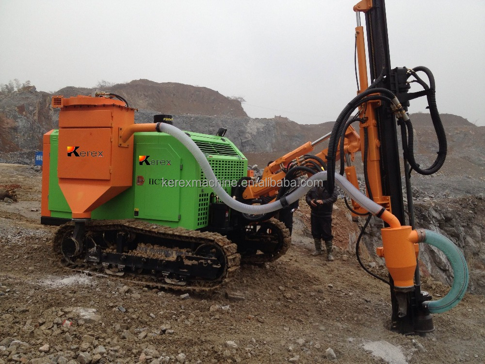 KD345 25meters deep mining crawler rock drill