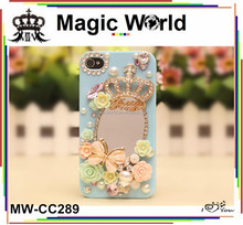 Luxury crown trend hot mirror phone cover case 2014