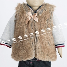 New Fashion Angel Baby Children's Outwear Faux Fur Vest Without Hood