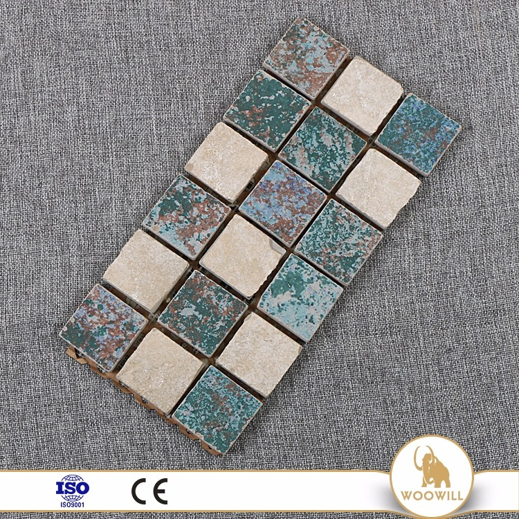 Buy rustic design multi color ceramic kitchen mosaic tile mural