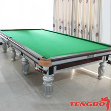 2015 Most Popular design solid wood English style 12ft snooker table price