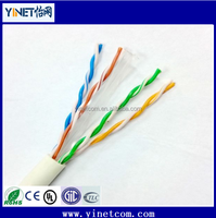 100% Pure copper conductor 23AWG CAT6 LAN Network Cable communication wires factory