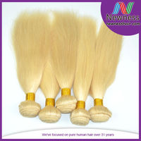 Factory supply silky smooth double drawn light blonde #613 russian federation hair