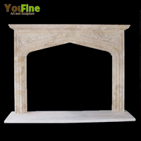Classic Cheap Artificial Stone Marble Fireplace Mantel