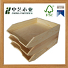 High quality FSC pine unfinished cheap A4 paper plain wood desk organiser wooden paper tray