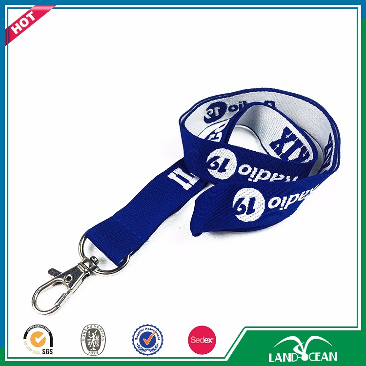 2017 good quality polyester woven lanyard roll for sale