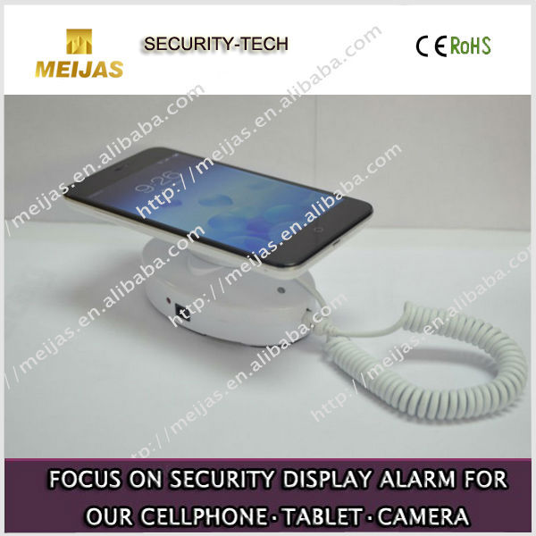 HOT!! elegant famous mobile phone security display stand with charging function,can install on the wall