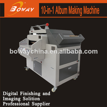 Creasing binding pressing CNC cutting corner cutter cover making edge folding cutting & grooving all in 1 photo album machine