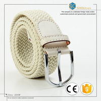 Giftline Factory price colorful braided fabric woven elastic belt