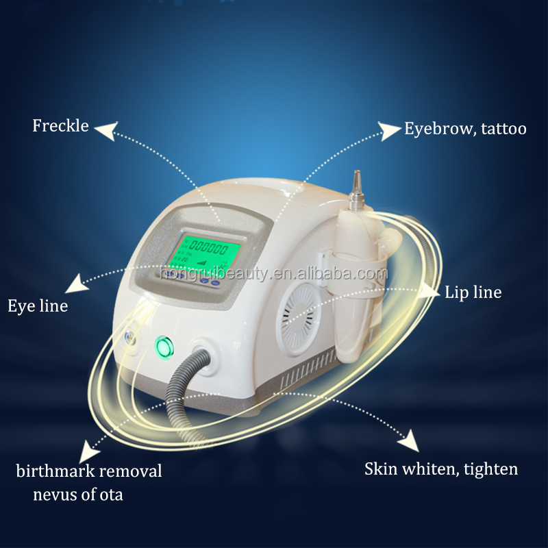 PRO Q Switch YAG Laser Machine Tattoo Eyebrow Removal Single Pulse 1000mj