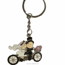 Wedding Metal charm keychain for gifts , souvenirs