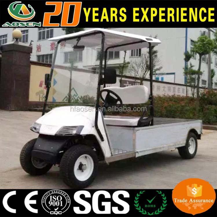 Chinese electric golf cargo bed car for 2 passenger with CE